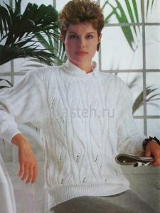 pulover-bel-s-agur-uzorom