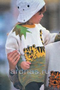 detckiy-pulover-c-tigrom