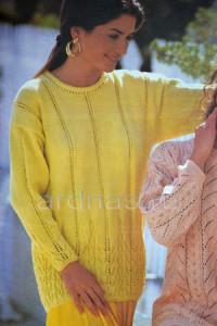 jeltiu-pulover-s-uzorom
