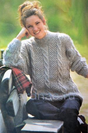 Коричневый Пуловер С Косами С Доставкой